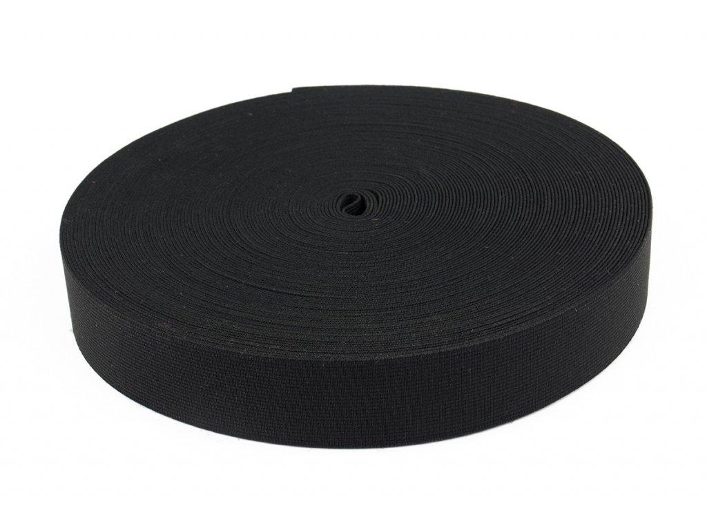 Pruženka hladká 30mm tkaná ELAS b,č
