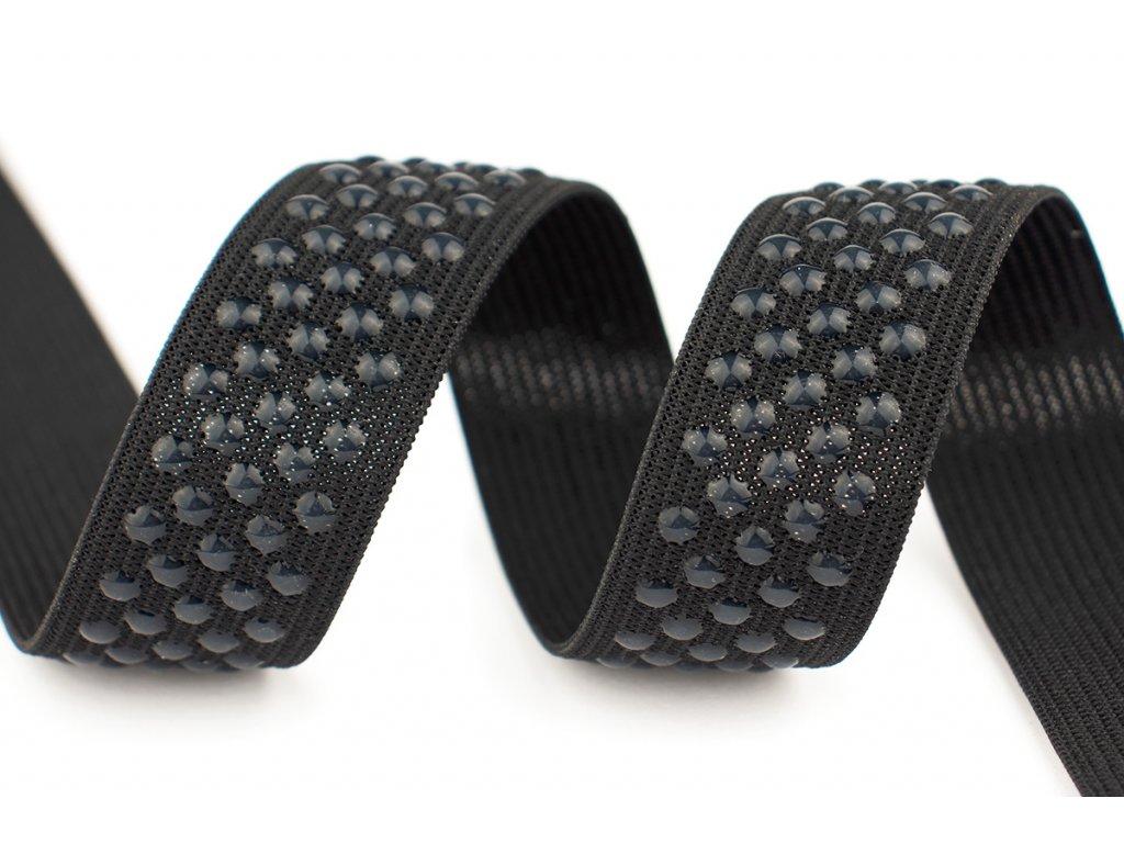 Pruženka silikon TEČKY černá 25mm