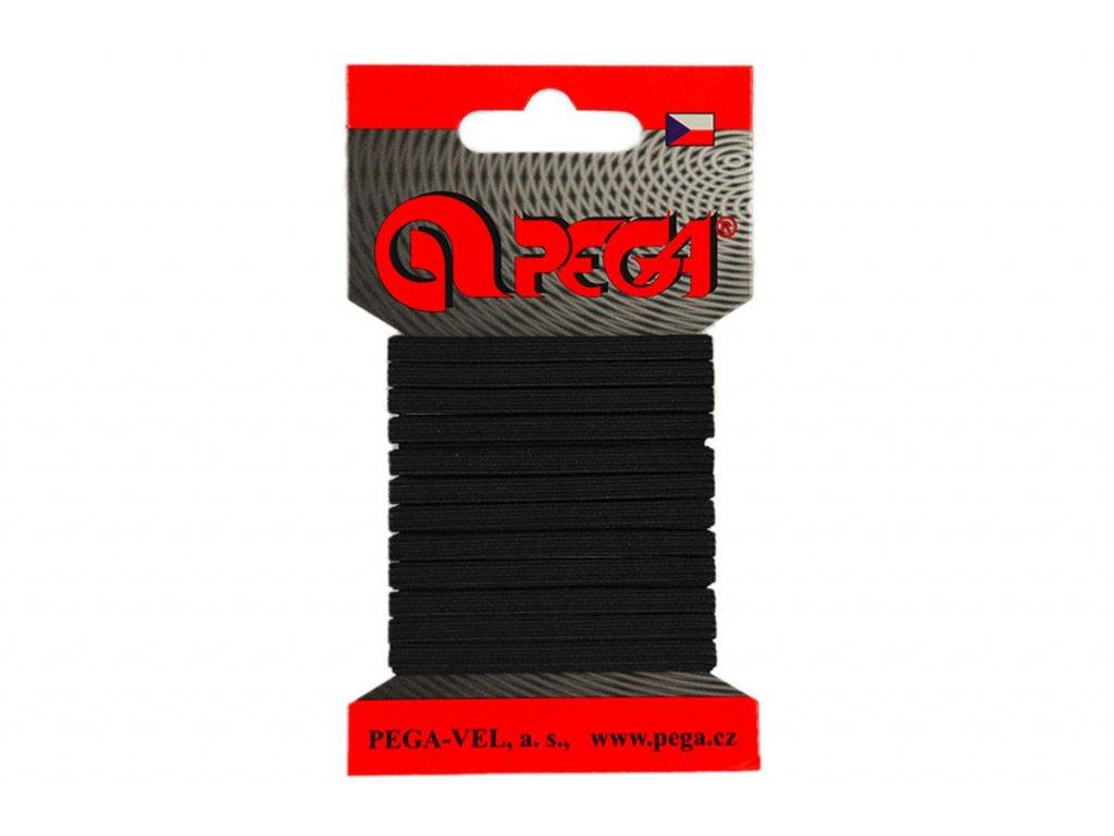 Pruženka prádlová karty 04mm černá