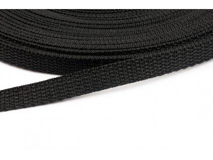 Popruh polypropylen 10 mm černý