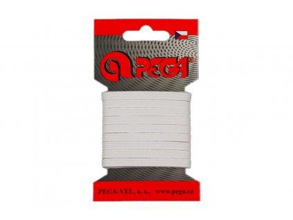 Pruženka prádlová karty 05mm bílá