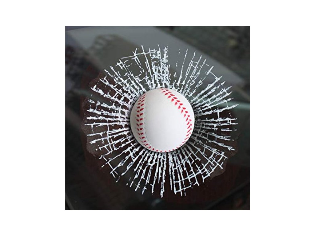 1307 2 3d samolepka rozbite sklo baseballovy micek