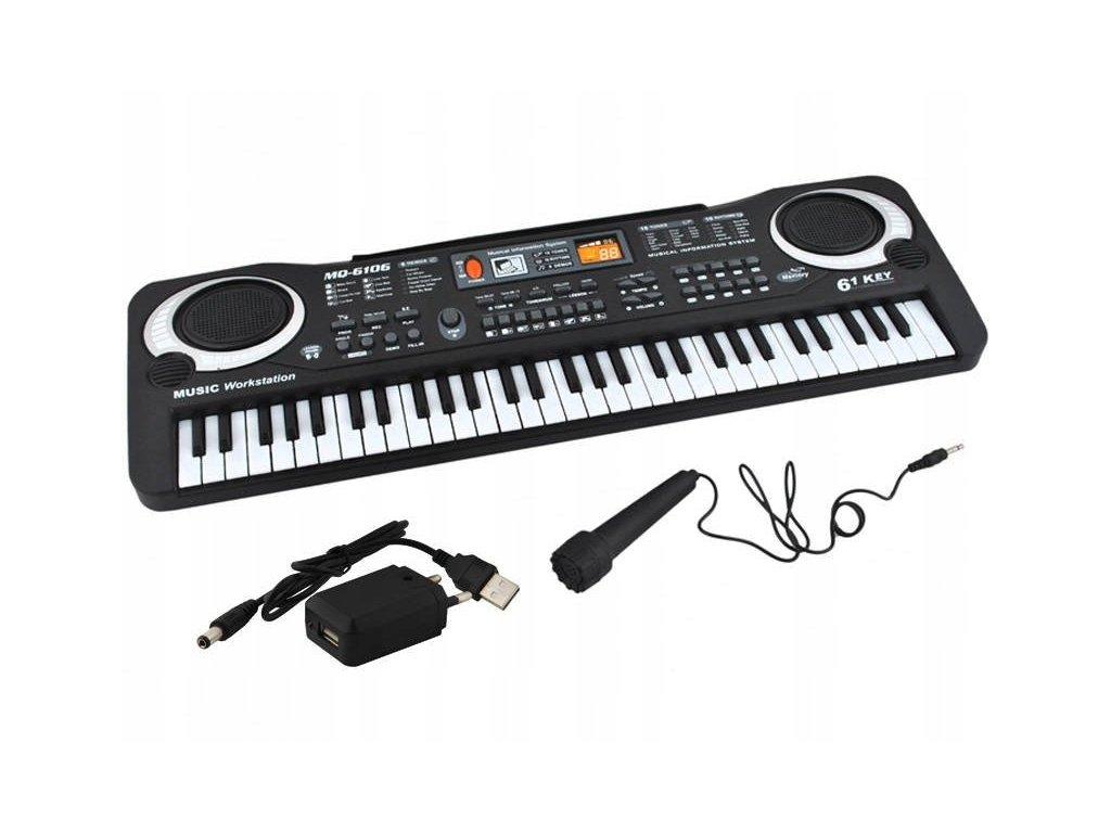 pol pl Keyboard organy elektroniczne 61 klawiszy K4687 12234 2