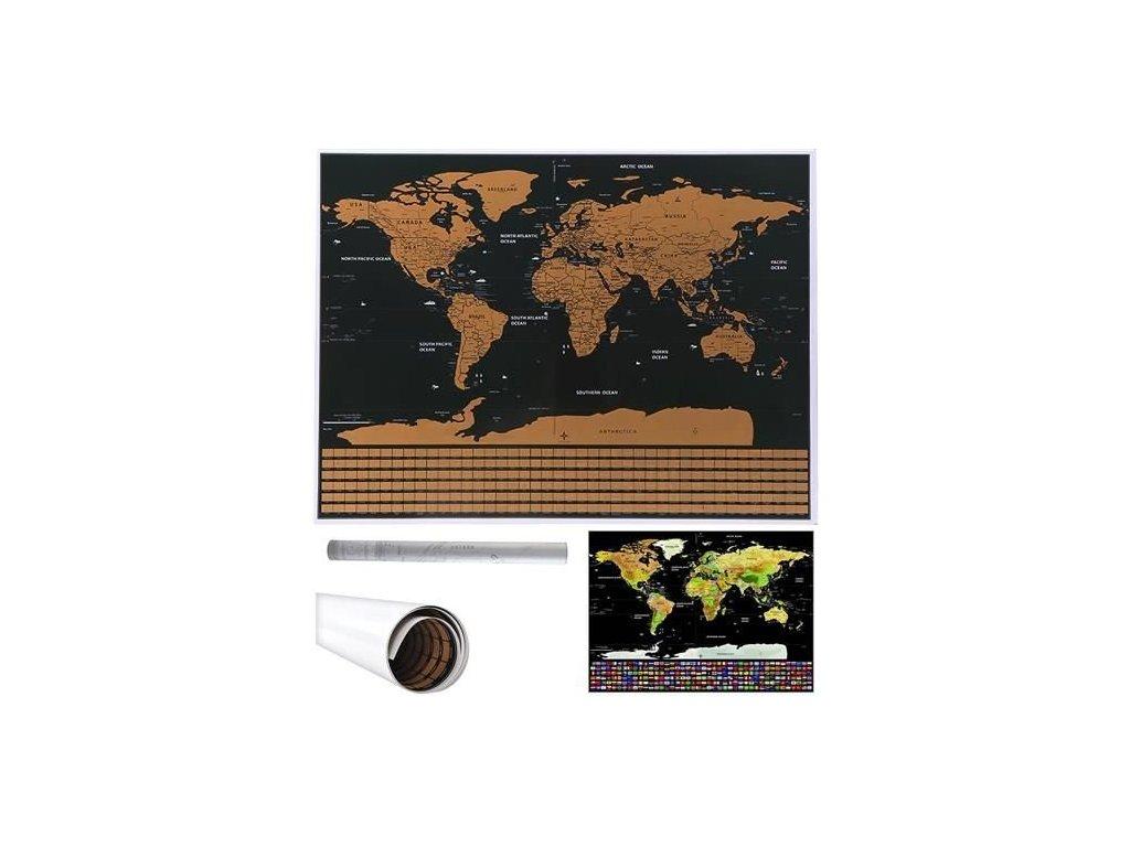 36311 stiraci mapa sveta s vlajkami 82 x 59 cm cerna 9409