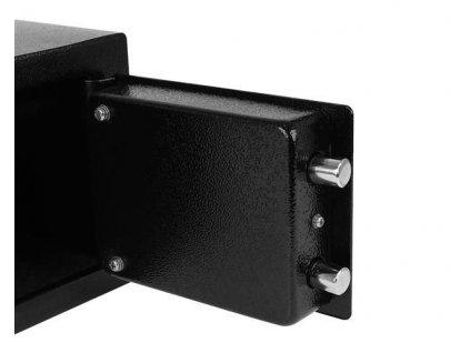 25487 trezor s mechanickym zamkem 230x170x170mm cerna 8800