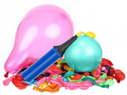29276 sada nafukovacich balonku 120 ks s pumpickou a stuhami 8868