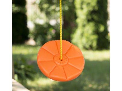 32507 detska plastova houpacka disk 28 cm oranzova kx7509