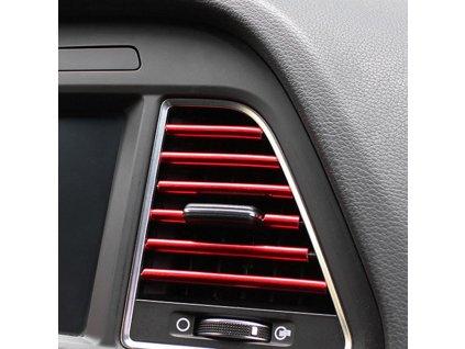 73005 dekoracni listy na ventilacni mrizku auta cervena