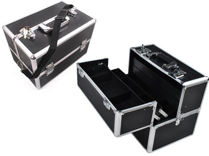 Slevnuj Elegantní kosmetický kufřík 36x25x24 cm, černý, 689