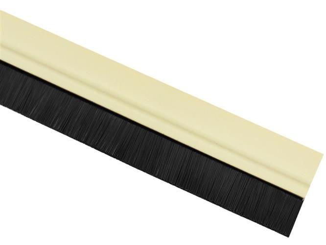 ISO Kartáčová těsnící lišta pod dveře 1m, béžová, 7922
