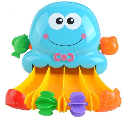 ISO Mlýnek do vany s přísavkou chobotnice, modrý, 7487