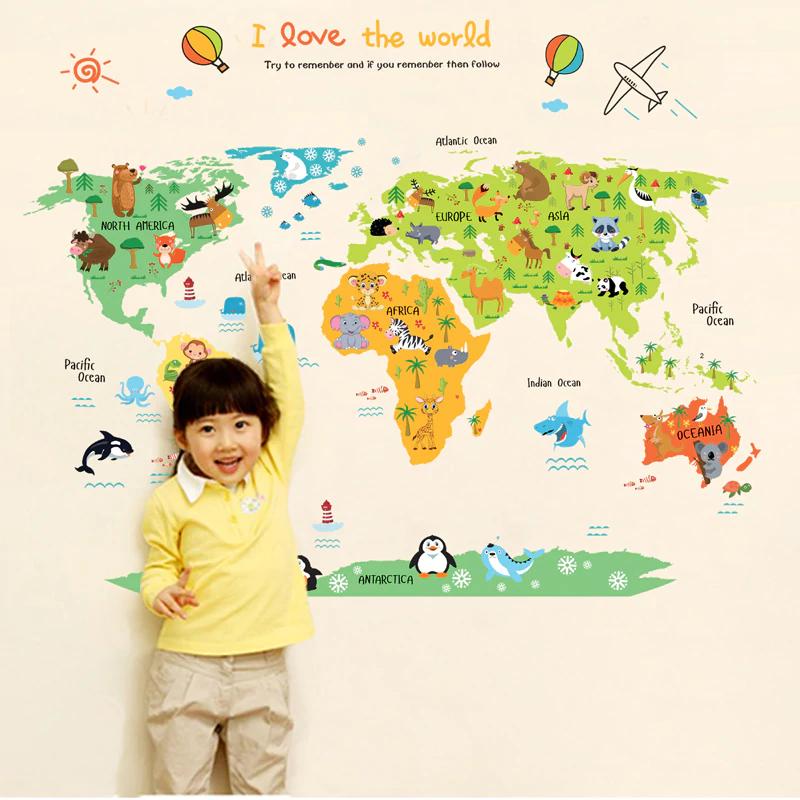 GFT Dětská mapa světa K201