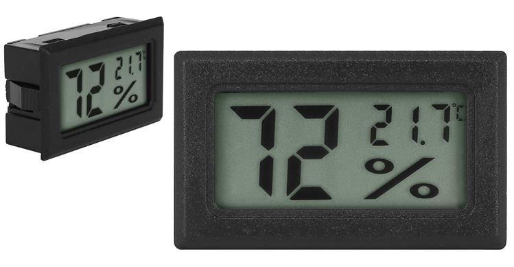 ISO Digitální LCD teploměr a vlhkoměr do panelu, 9310