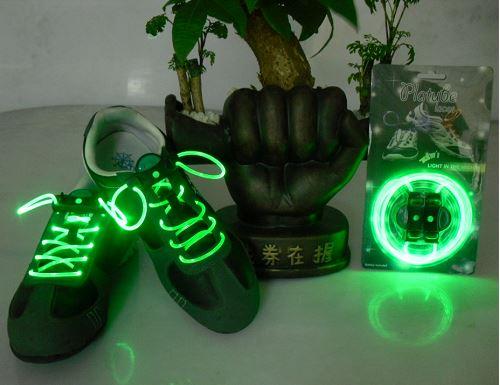GFT LED svítící tkaničky - zelené