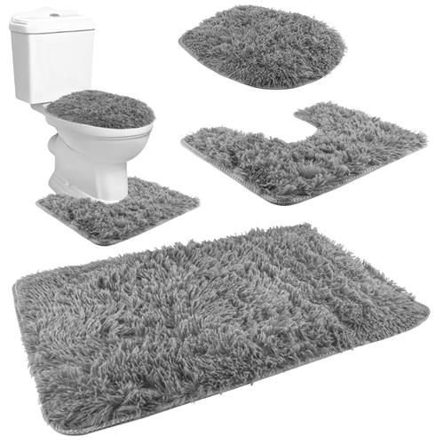 ISO Koupelnová a WC předložka 80x50cm 3ks, šedá, 8312