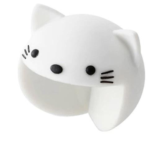 KIK Silikonová ochrana rohů Kočička, bílá, KX7441_1