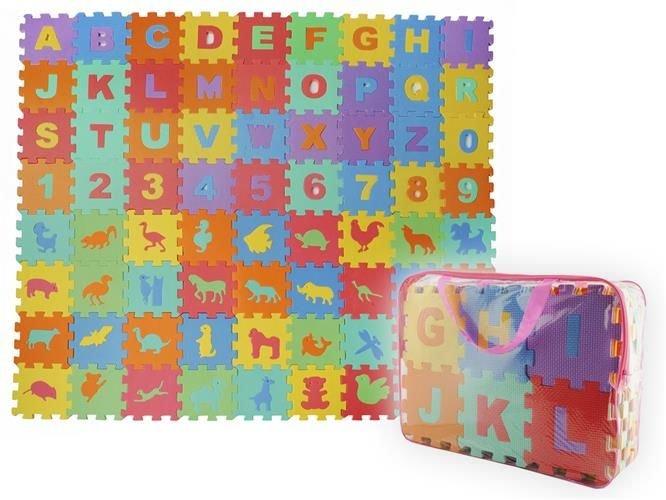 ISO EVA Pěnové puzzle 16 x 16 cm - 72 ks, 4495