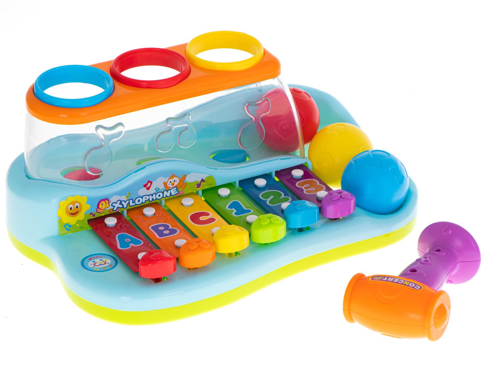 Huile Toys Dětský xylofon s kladívkem a míčky, KX6003