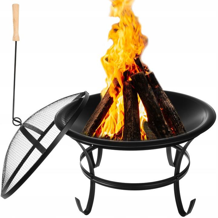 Kaminer Zahradní gril a ohniště, černá, 11825