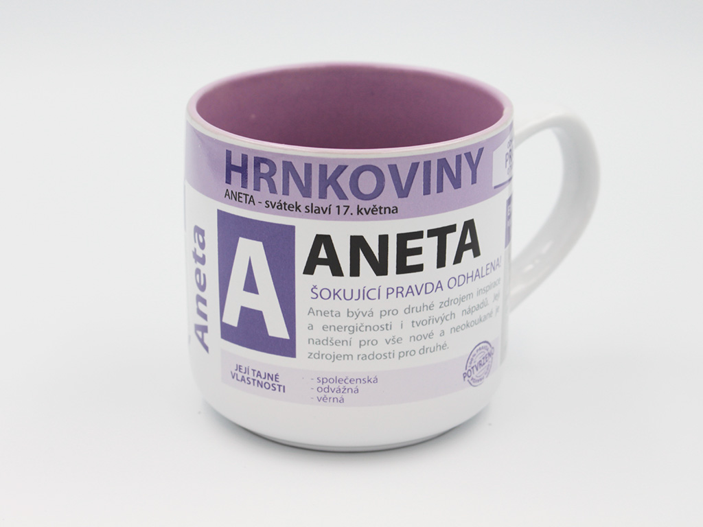 Nekupto Hrnek se jménem ANETA Hrnkoviny