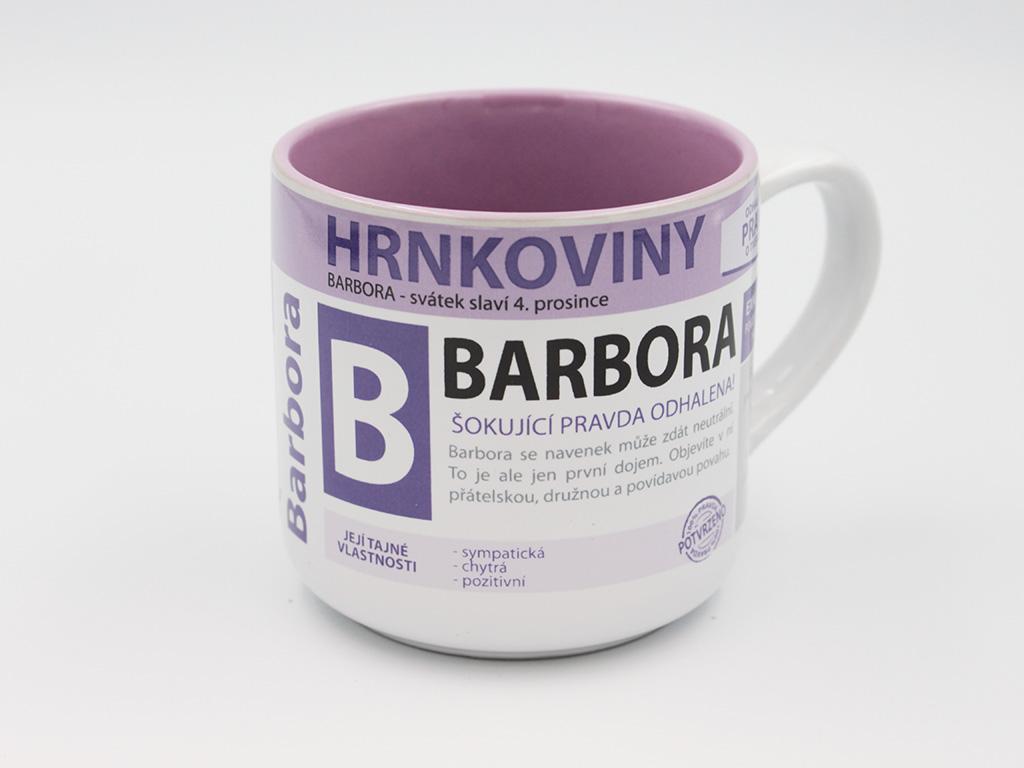 Nekupto Hrnek se jménem BARBORA Hrnkoviny