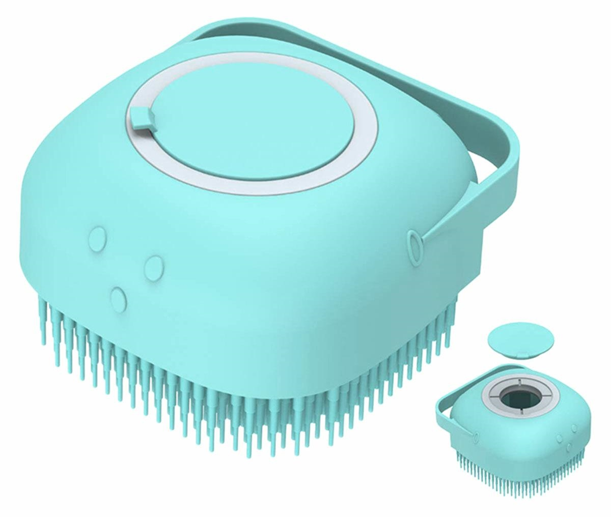 APT AG672D Masážní kartáč s dávkovačem šampónu pro psy