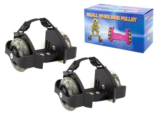 APT AG234 Svítící LED kolečka na boty, černá