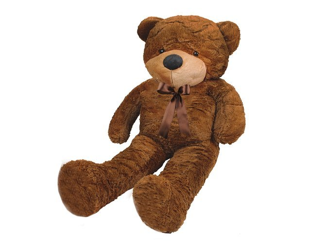 ISO Velký plyšový medvěd 130cm, tmavě hnědý, 4656