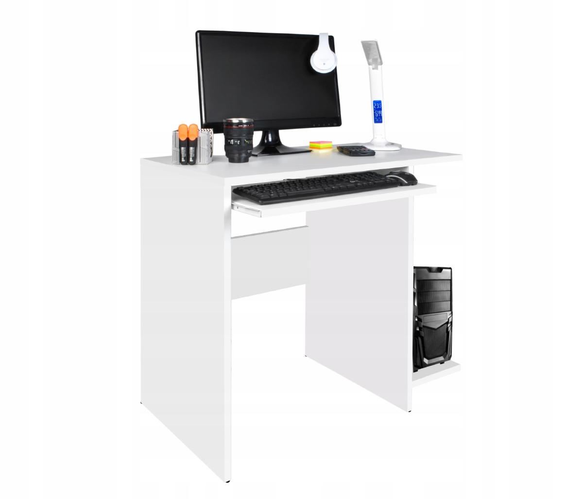 ISO Stůl na PC Modern, 80x50x75cm, bílá, 8701
