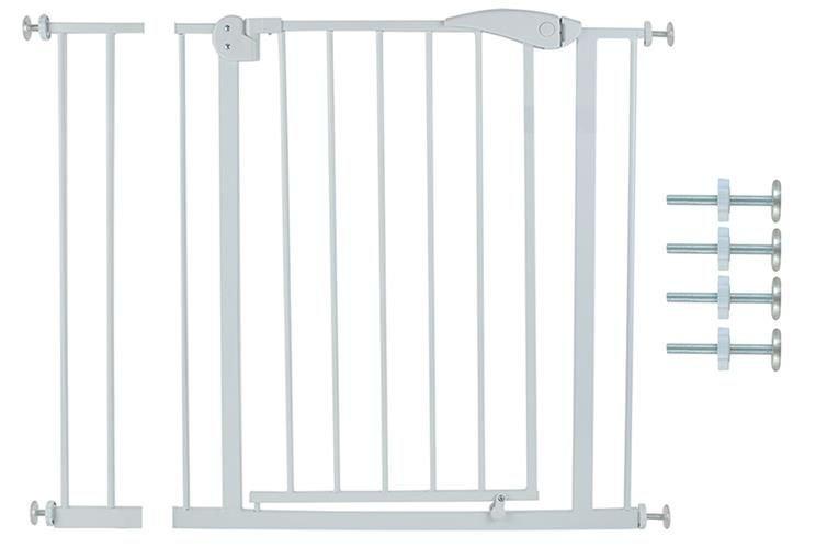 ISO Dětská zábrana do dveří 74-101 cm, bílá, 6222