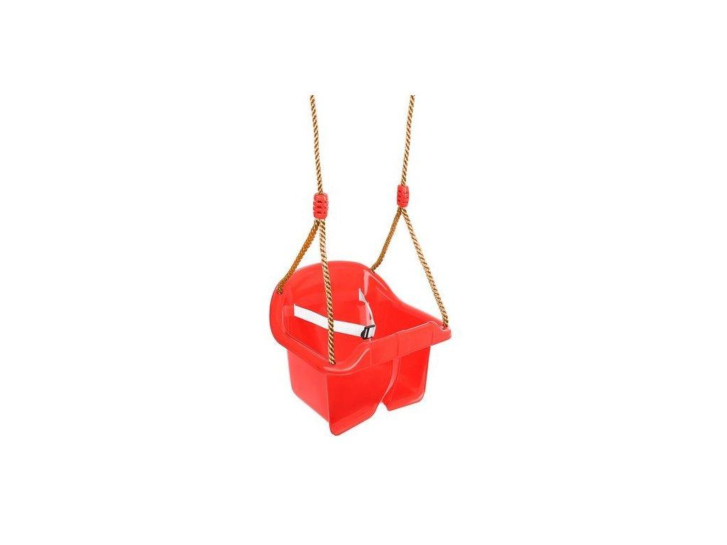 50099 30 detska houpacka plastova cervena 9919