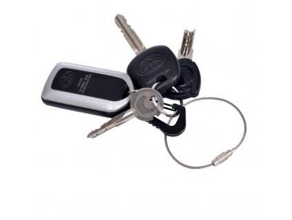 eng pl Stainless steel wire keychain 5 pcs 2134 1