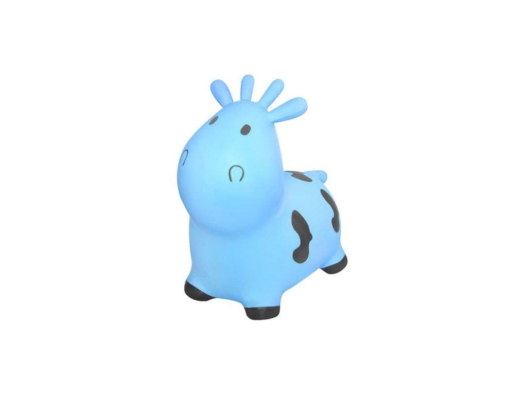 25586 zviratko skakaci kravicka s pumpou kruzzel modra 8778