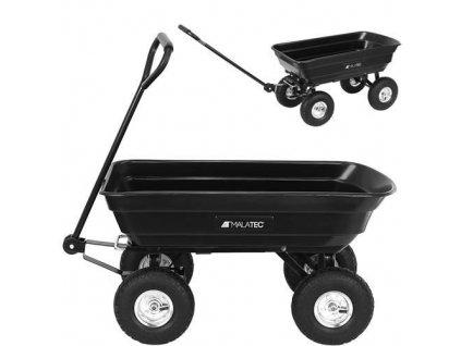 35732 malatec zahradni prepravni vozik vyklopny 350 kg cerna 9043