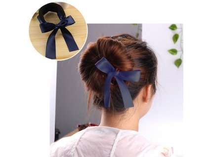 41201 klip do vlasu s masli tmave modry