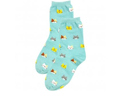 0028096 ponozky s kocickami modre