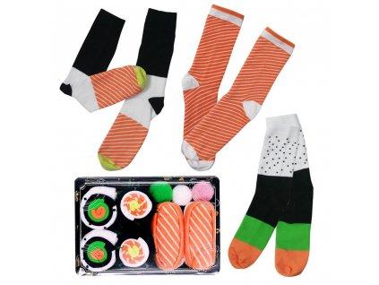 72930 vesele ponozky set sushi