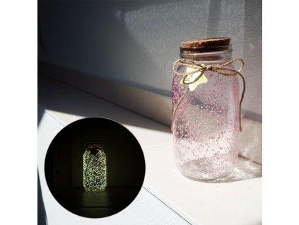 19943 3 svitici sklenena doza ruzova zluta s207