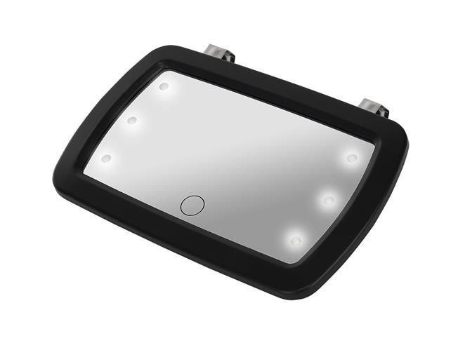 ISO Detské spätné zrkadlo do auta 6x LED, 8929