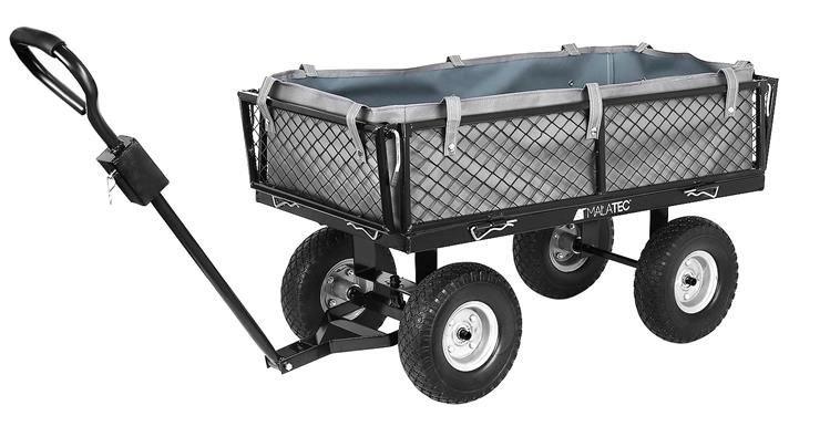Malatec Záhradný vozík s výklopnými bokmi nosnosť 600 Kg, 9038