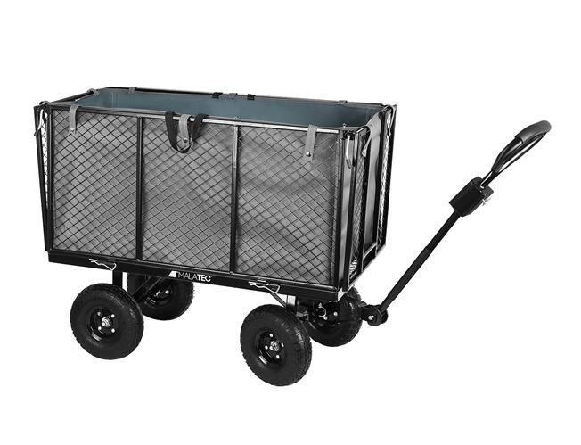 Malatec Záhradný vozík s výklopnými bokmi vysoký nosnosť 350 Kg, 9039