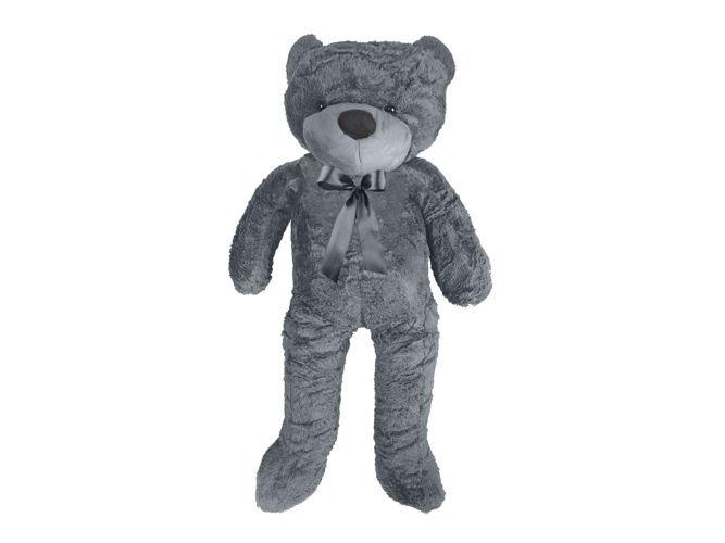ISO Veľký plyšový medveď 100 cm - šedý, 9281