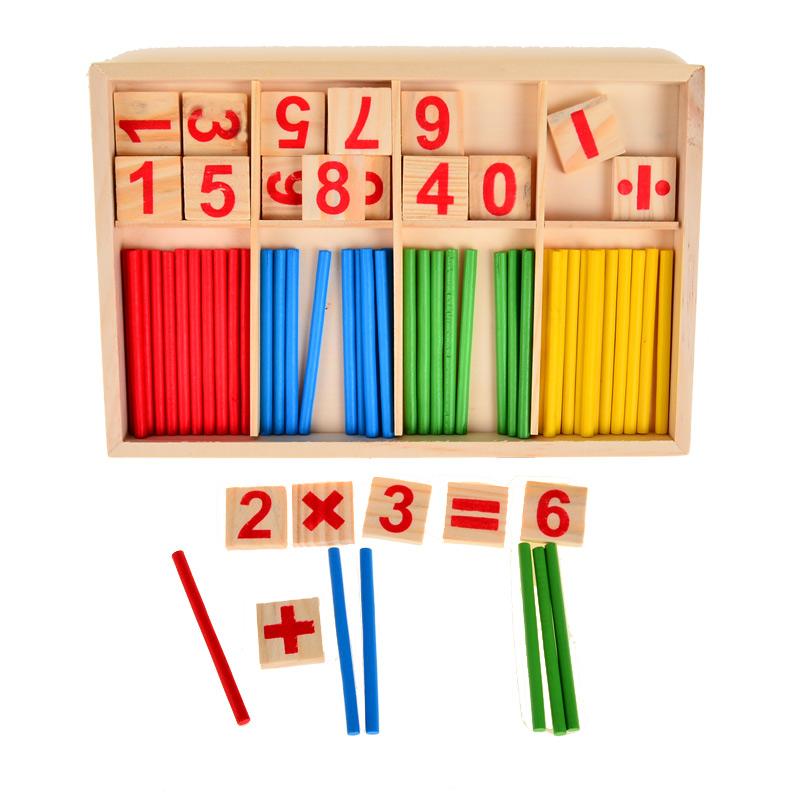 KIK Drevené počítadlo pre deti, počítacie tyčinky, KX9878