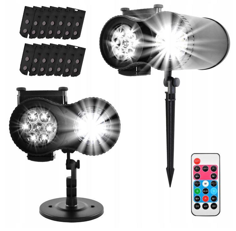 ISO Projektor LED vonkajšie 12 motívov s diaľkovým ovládačom, 9565