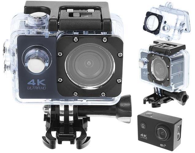 ISO Kamera 4K ULTRA HD, Wifi 32GB, čierna, 9101