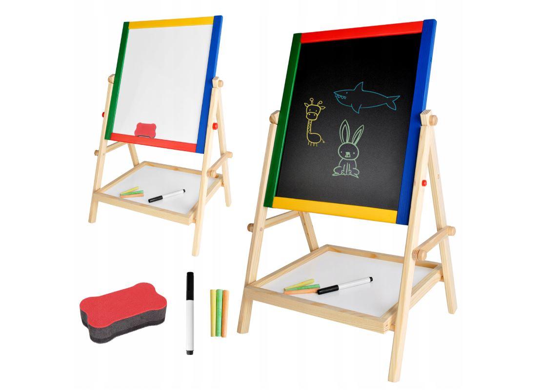 ISO Multifunkčná obojstranná tabuľa pre deti 42x35cm, 8905