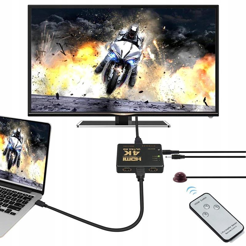 ISO HDMI 4K prepínač s diaľkovým ovládaním, 9709