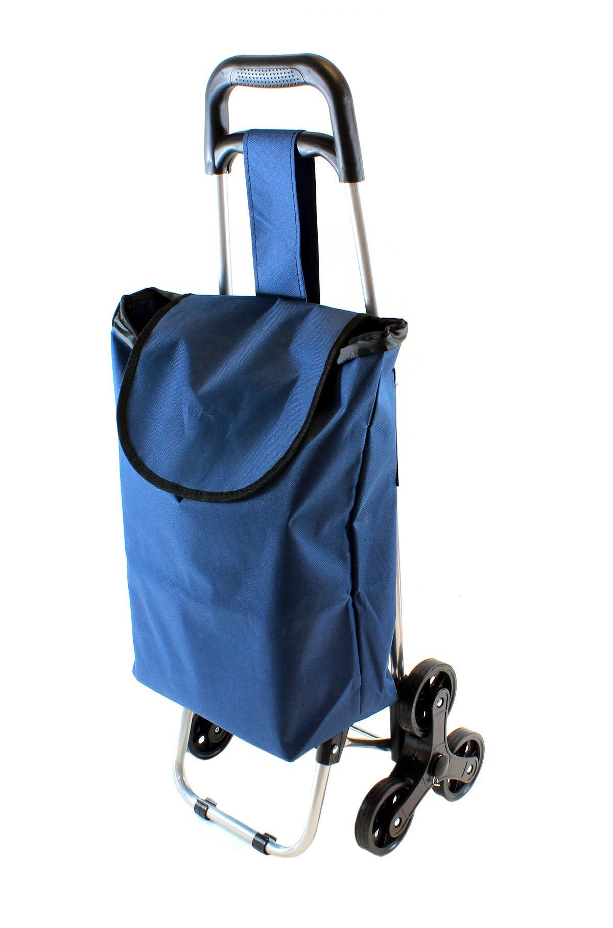 APT Nákupná taška na kolieskach do schodov 37 l - modrá, AG405B