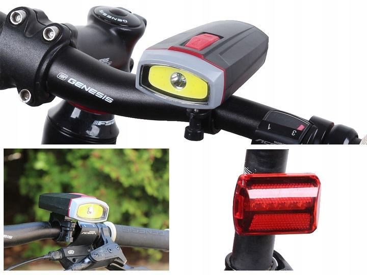 Verk LED svetlo na bicykel 5W COB sada, 14216