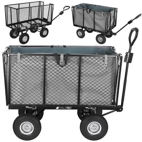 Malatec Záhradný vozík s výklopnými bokmi nosnosť 600 Kg, 9040